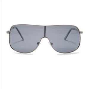 Joe's Jeans Gunmetal Shield Sunglasses Smoke Lens